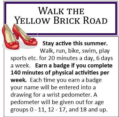 Summer Reading – Walk the Yellow Brick Road